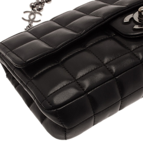 Chanel Black Chocolate Bar East West Limited Edition Shoulder Bag