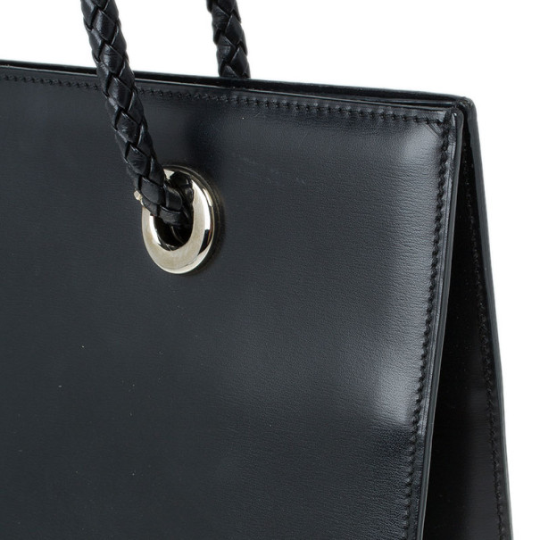 Cartier Black Leather Panther Bag