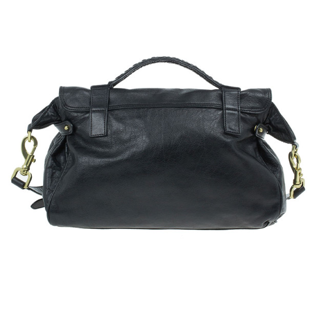 Mulberry Black Leather Alexa Cross Body Bag