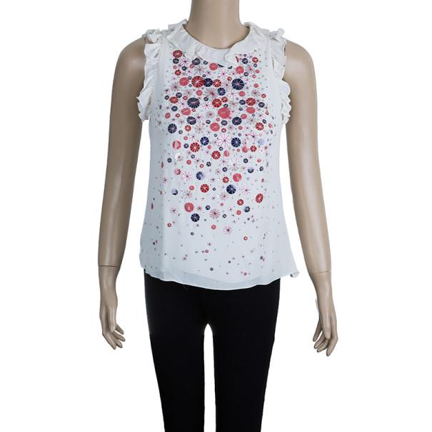 Carolina Herrera White Embellished Top S