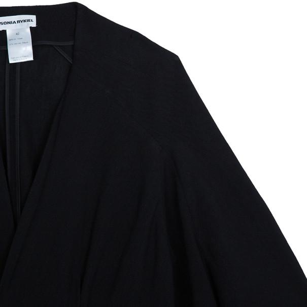 Sonia Rykiel Black Knit Jacket L