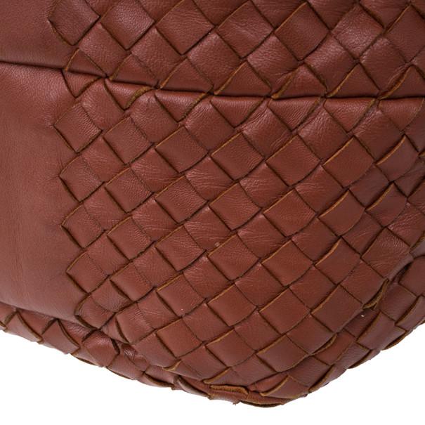 Bottega Veneta Red Nappa Intrecciato Campana Bag