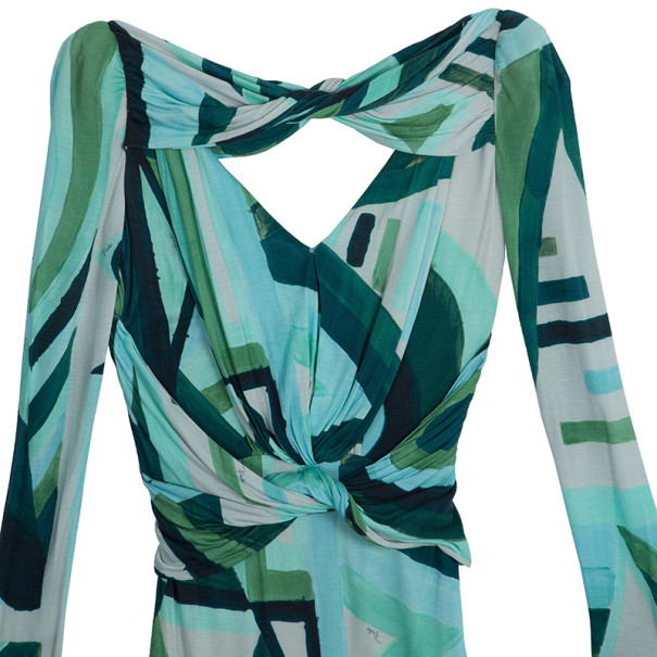 Emilio Pucci Long Sleeve Abstract Dress M