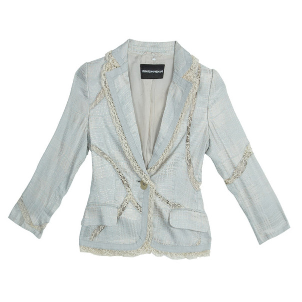 Emporio Armani Lace Textured Jacket S