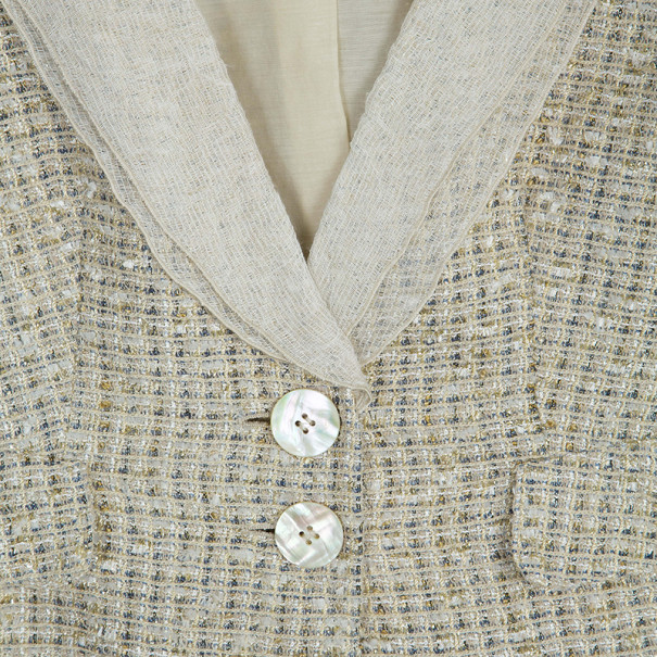 Emporio Armani Gold Tweed Jacket S