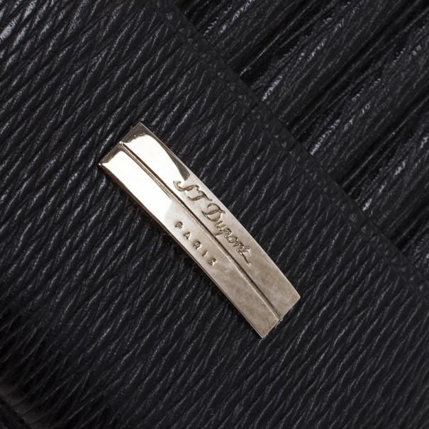 S.T. Dupont Black Leather Cigarette Case