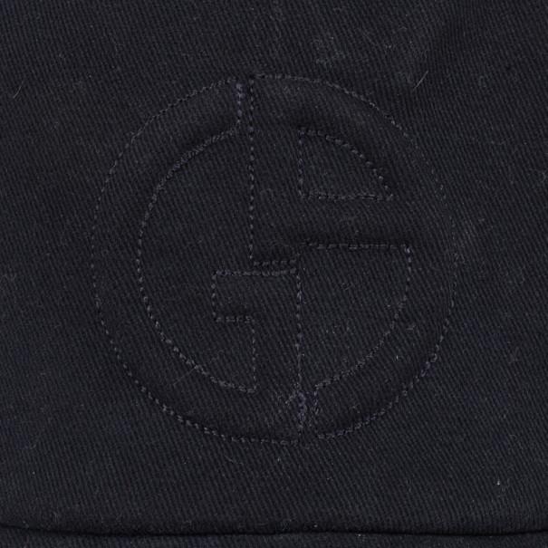 Giorgio Armani Black Logo Baseball Cap