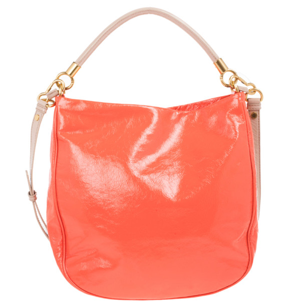 Marc by Marc Jacobs Orange Leather Too Hot To Handle Hobo