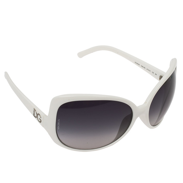 Dolce and Gabbana White Oversized Square Sunglasses