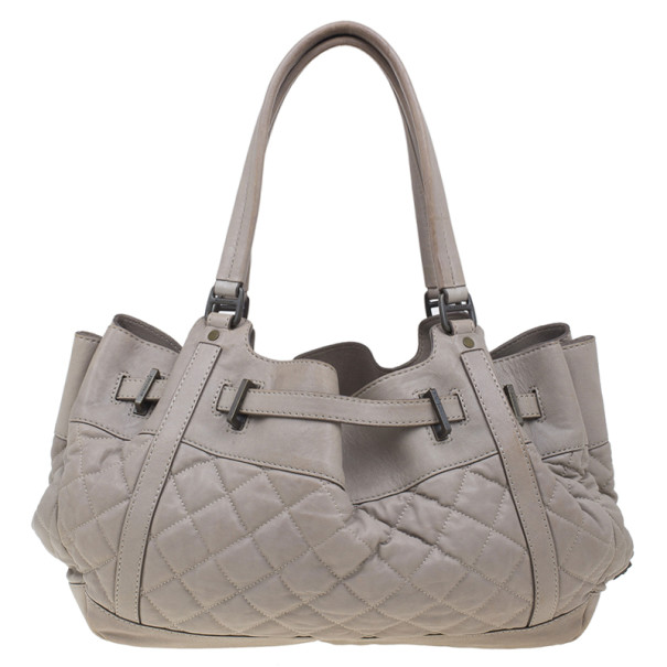 Burberry Beige Leather Belted Satchel