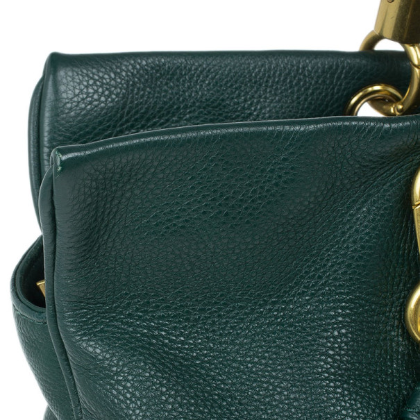 Marc by Marc Jacobs Green Leather Too Hot To Handle Tote