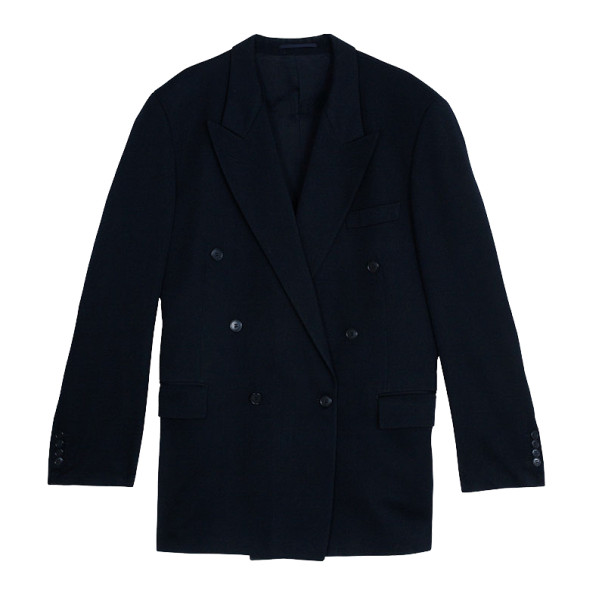Saint Laurent Paris Navy Double Breasted Suit EU52