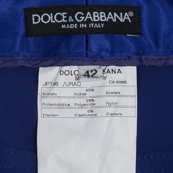 Dolce and Gabbana Purple Satin Trousers M