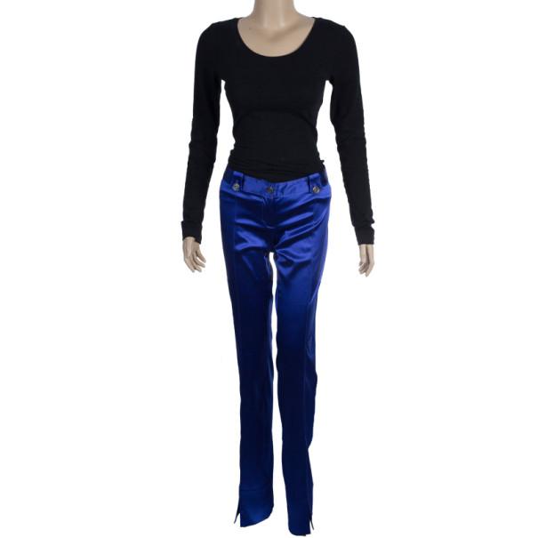 Dolce and Gabbana Purple Satin Trousers M