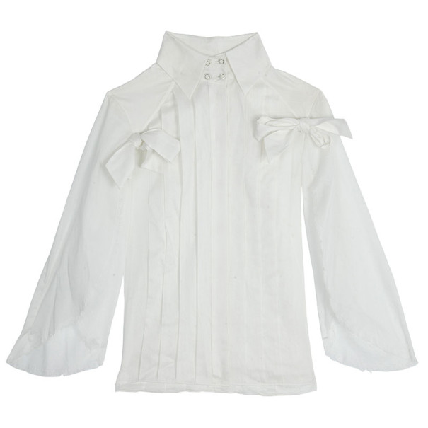 Chanel White Long Sleeve Shirt S