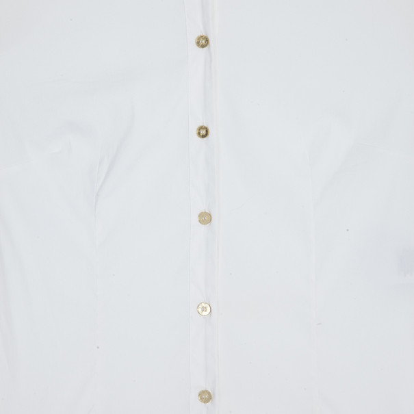 Versace White Short Sleeve Shirt M