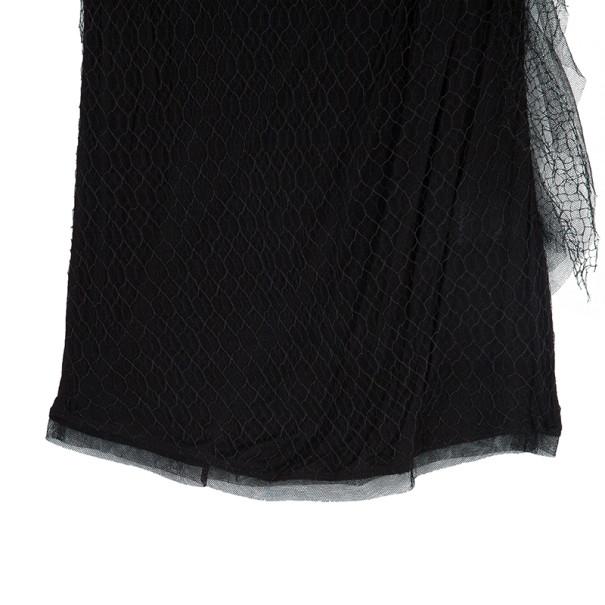 Valentino Black Floral Embellished Top S