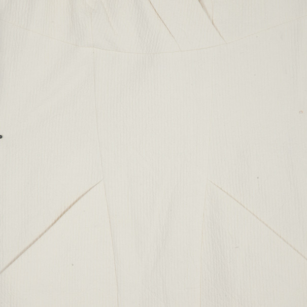Chanel Off-White Collared Dress M