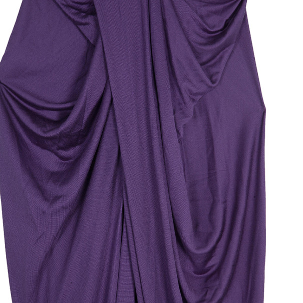 Dior Purple Draped Dress M