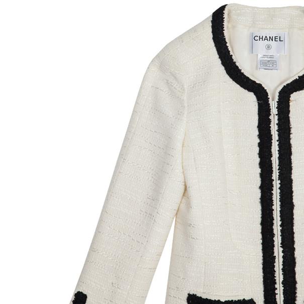 Chanel Classic Monochrome Tweed Jacket M