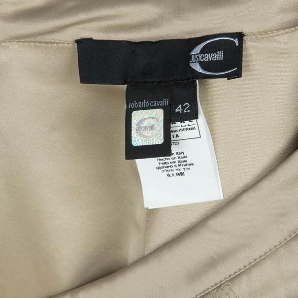 Just Cavalli Fishtail Satin Maxi Skirt M