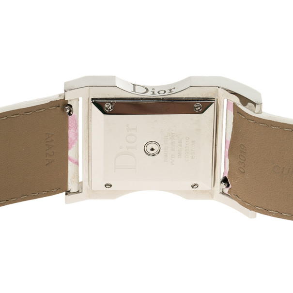Dior White Stainless Steel Chris 47 Womens Wristwatch 31MM