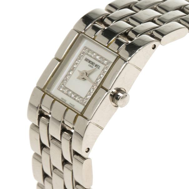Raymond Weil White Stainless Steel Tema Women's Wristwatch 18MM