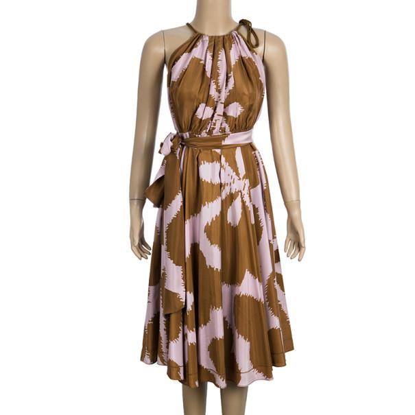 Diane Von Furstenberg 'Naro' Halterneck Dress L