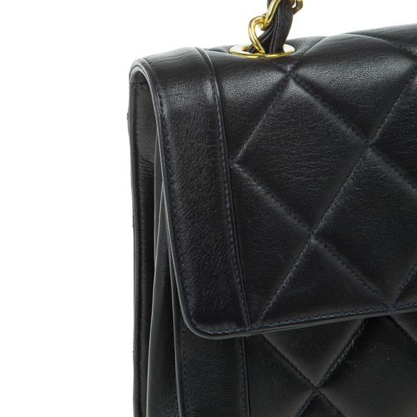 Chanel Black Lambskin Square Flap Bag