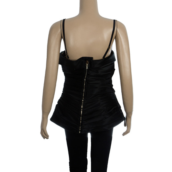 Dolce and Gabbana Satin/Lace Bustier Top L