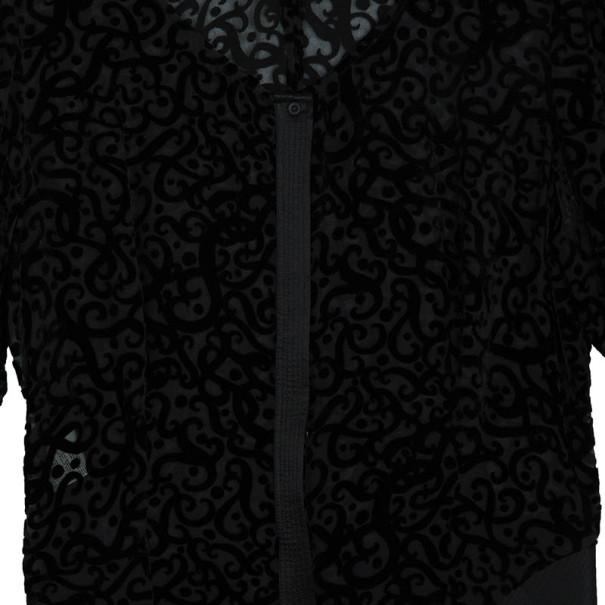 Giorgio Armani Devore Long Sleeve Top L