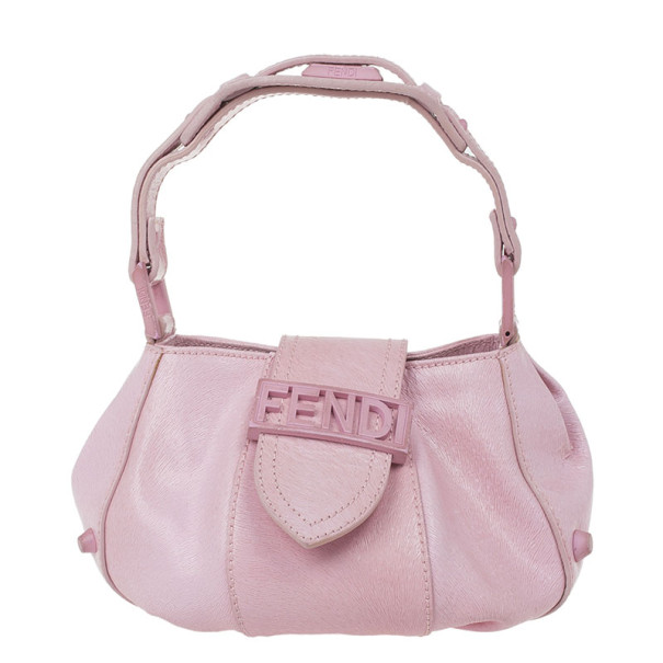 Fendi Pink Leather Pouch
