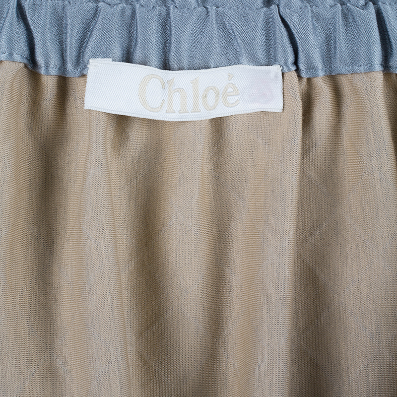 Chloe Silver Quilted Skirt S