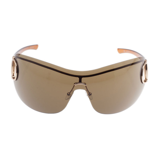 Gucci Brown GG 2711 Horsebit Shield Sunglasses