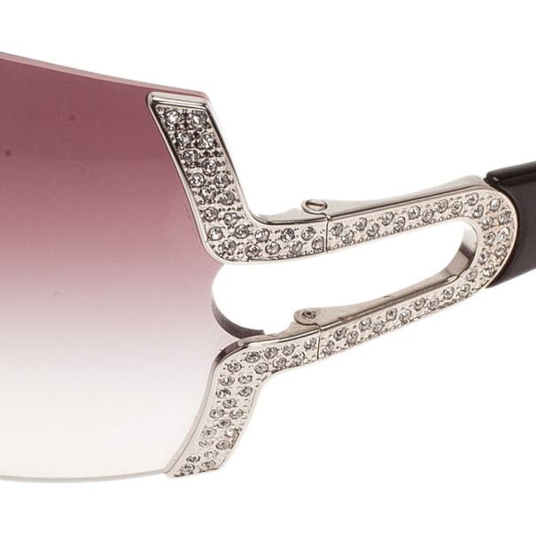 Bvlgari Purple 6038 Parentesi Motif Shield Sunglasses