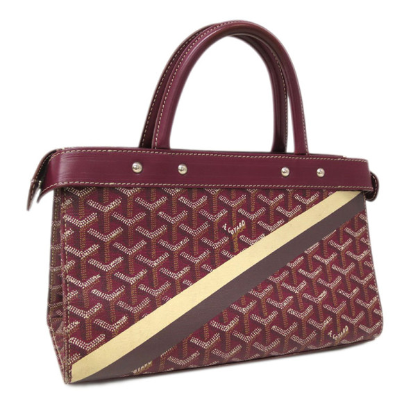 Goyard Bordeaux Canvas and Leather Jersey Tote PM