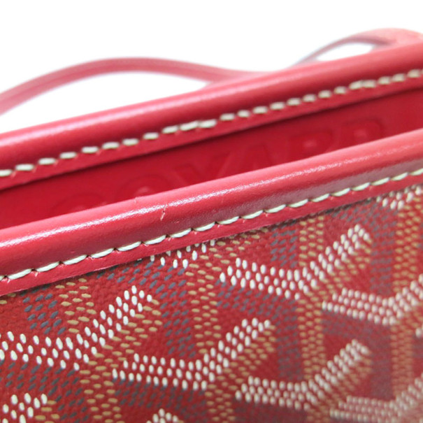 Goyard Red Canvas Marquises Tote