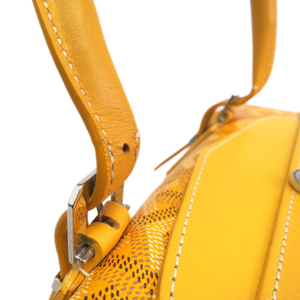 Goyard Yellow Canvas Boeing 30 Boston Bag
