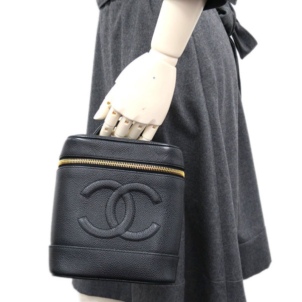 Chanel Black Caviar Vanity Bag