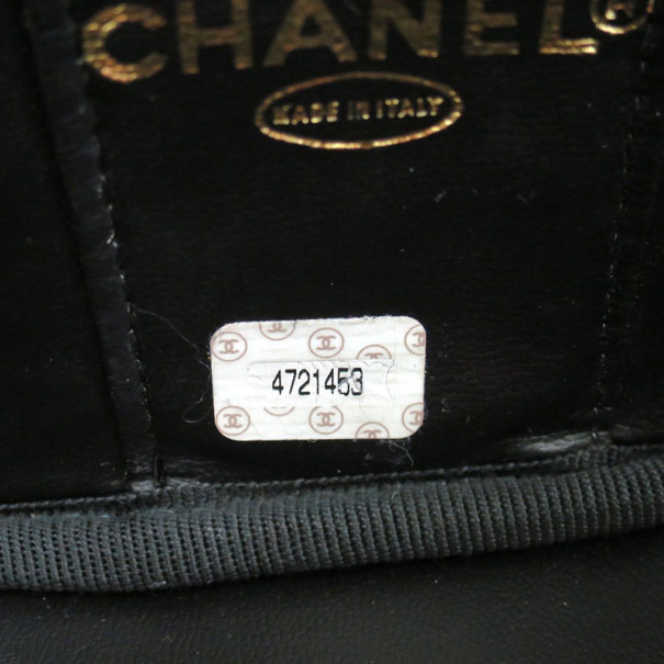 Chanel Black Patent Vanity Bag