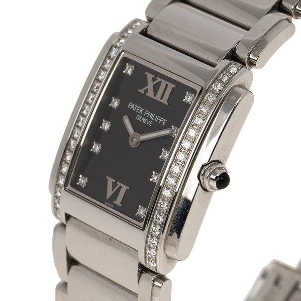 Patek Philippe Black Stainless Steel Twenty 4 Women's Wristwatch 26MM