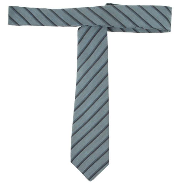 Burberry Grey Striped Tie