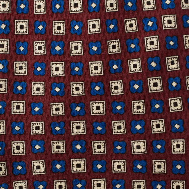 Valentino Red Printed Silk Tie