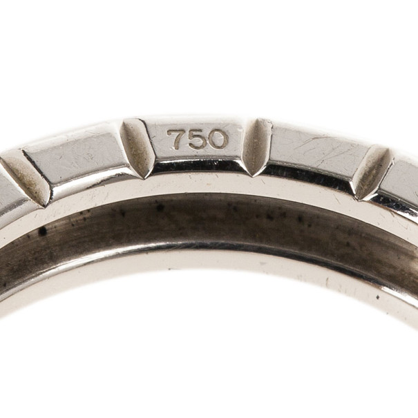 Chopard Ice Cube Diamond White Gold Band Ring Size 54