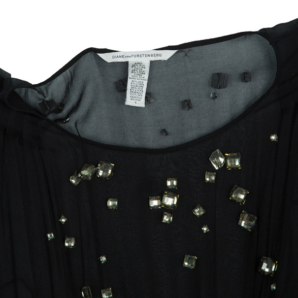 Diane Von Furstenberg Cadman Embellished Dress M