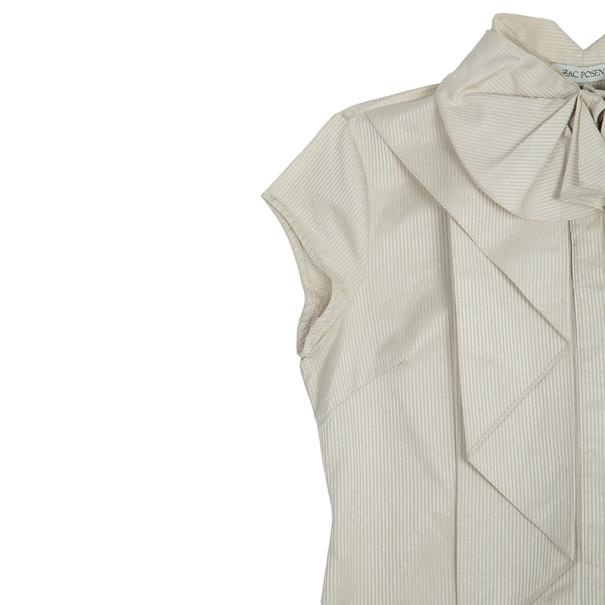 Zac Posen Ruffle Short Sleeve Top M