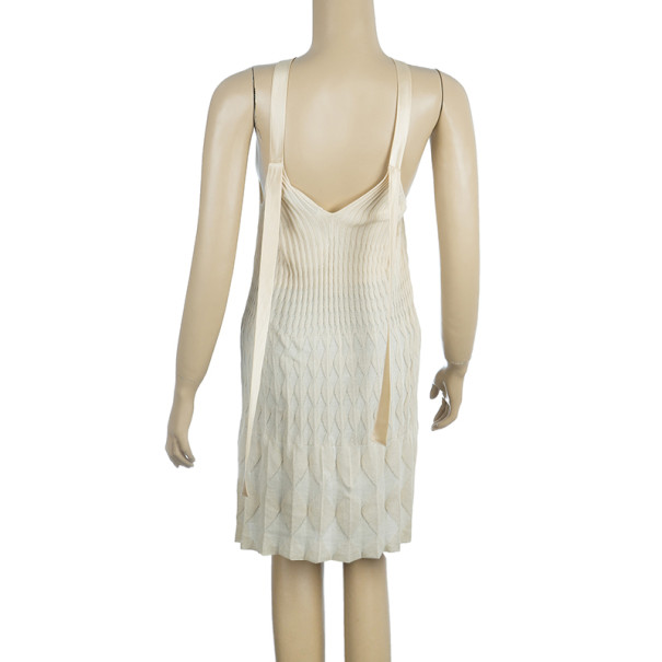 Dior Knit Strapless Dress M