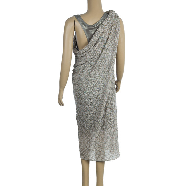 Missoni One Shoulder Metallic Dress S