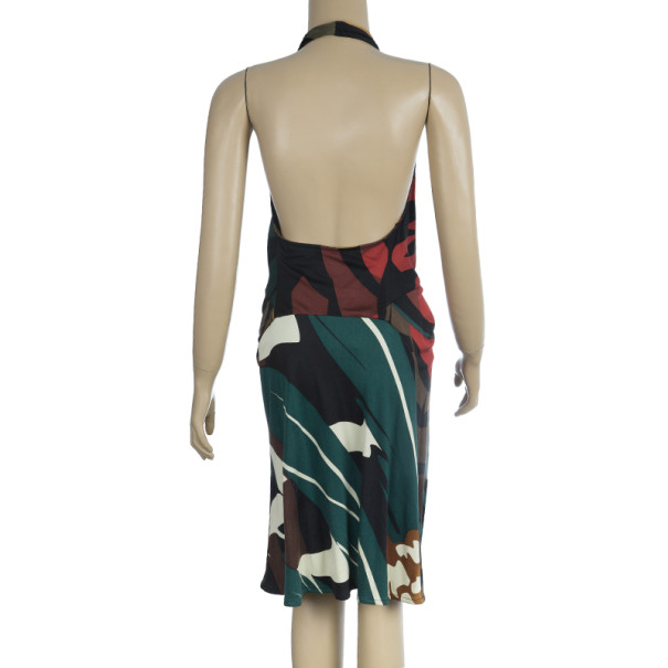 Issa London Abstract Halterneck Dress M