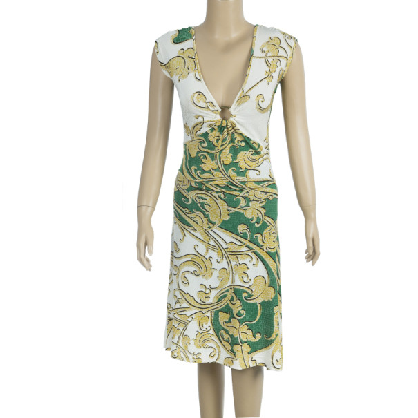 Just Cavalli Abstract Print Dress M